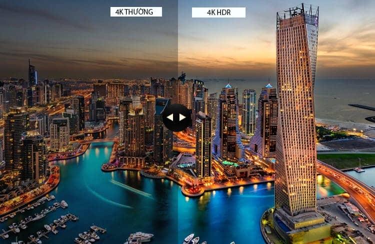 Công nghệ 4k HDR trên KD-75X8500E