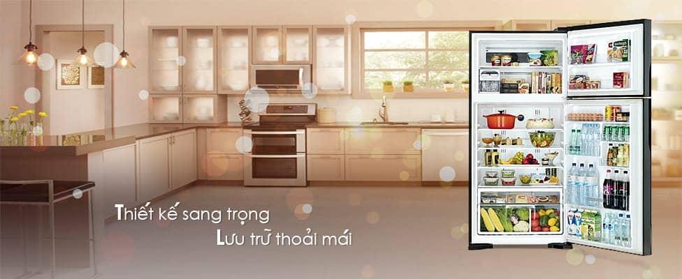 tủ lạnh hitachi R-VG660PGV3(GGR) thiết kế sang trọng