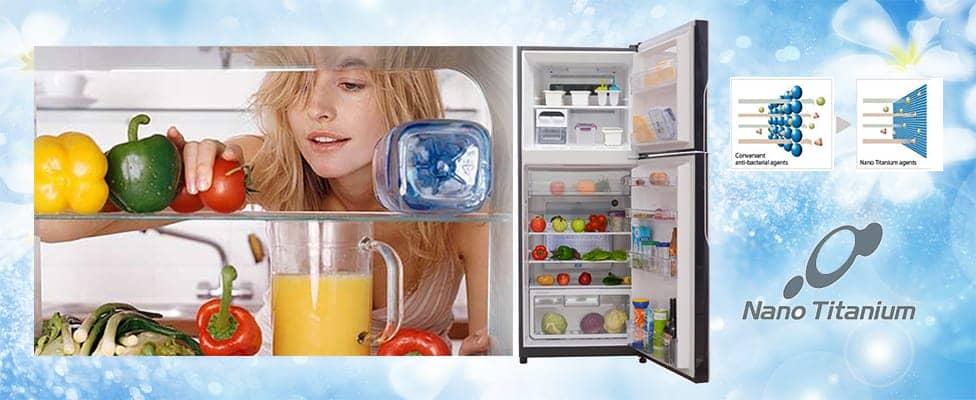 tủ lạnh R-VG660PGV3(GGR) sở hữu hệ thống khử mùi