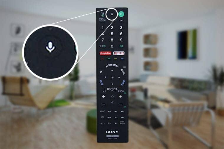 tìm kiếm bằng giọng nói trên tivi KD-55A1