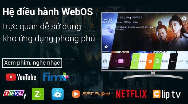 Smart Tivi LG 4K 49 inch 49UK7500PTA hệ điều hành WebOS