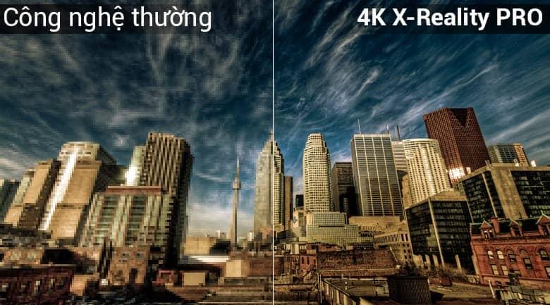 Android Tivi Sony 4K 75 inch KD-75X8500 Công nghệ 4K X pro