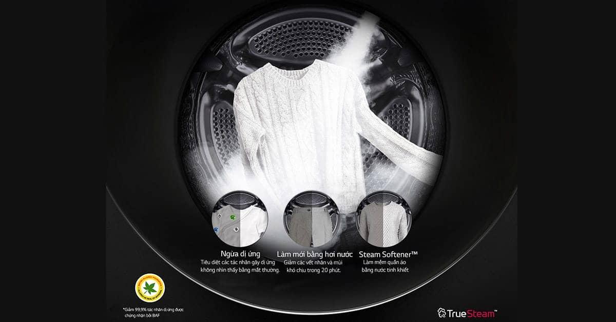 Máy giặt LG Inverter 19 kg F2719SVBVB công nghệ true stream