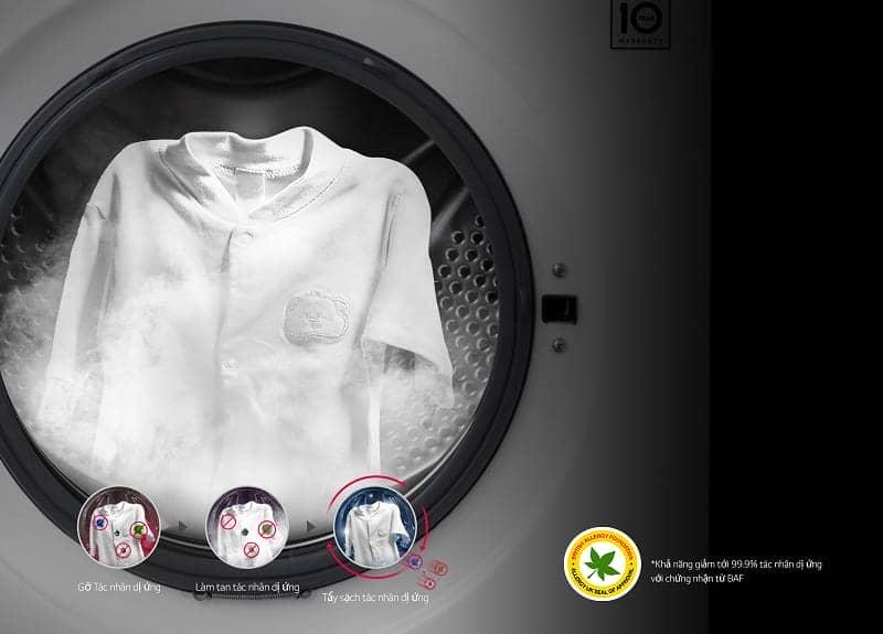 Máy giặt Mini 3.5 kg LG T2735NWLV Chế độ giặt hơi nước