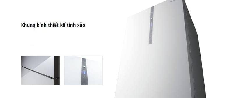 Tủ lạnh Panasonic NR-BX418GWVN 407 lít Khung kính tinh xảo