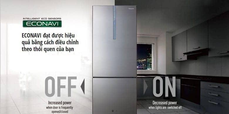Tủ lạnh Panasonic NR-BX418GWVN 407 lít Econavi