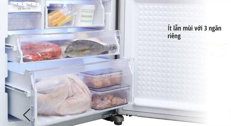 Tủ lạnh Panasonic NR-BX418GWVN 407 lít Thiết kế thông minh