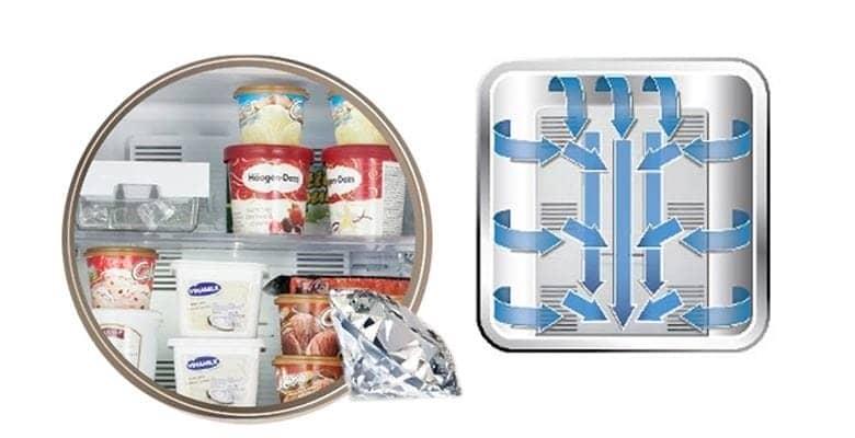 Tủ lạnh Panasonic NR-BX418GWVN 407 lít Khí lạnh vòm