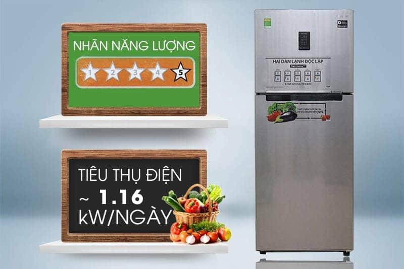 mức tiêu hao nhiên liệu của tủ lạnh RT32K5532S8/SV