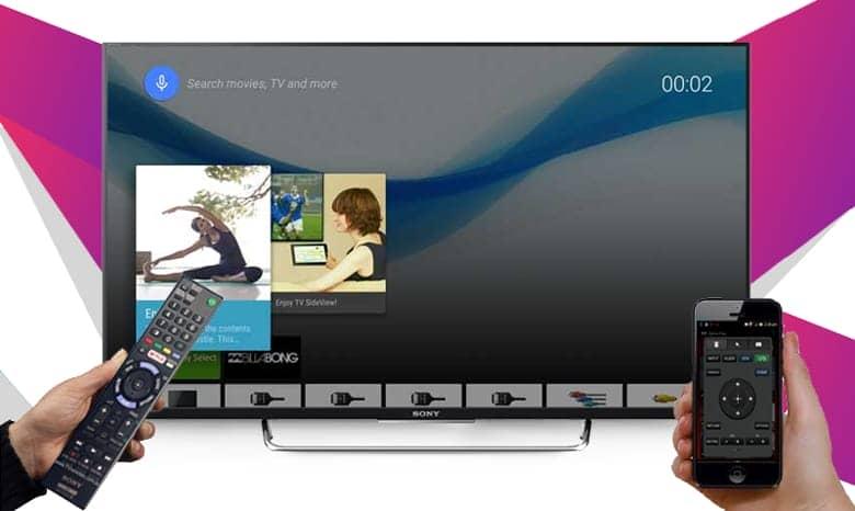 Điều khiển tivi 43W800C bằng điện thoại