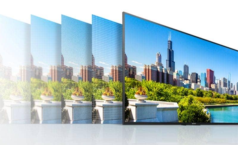 Độ phân giải 4k trên tivi KD-55X8000E/S