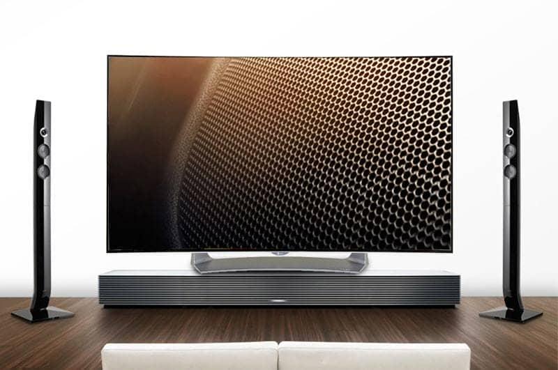 Smart TV Full HD OLED Cong LG 55EG910T thiết kế màn hình mỏng, tinh tế