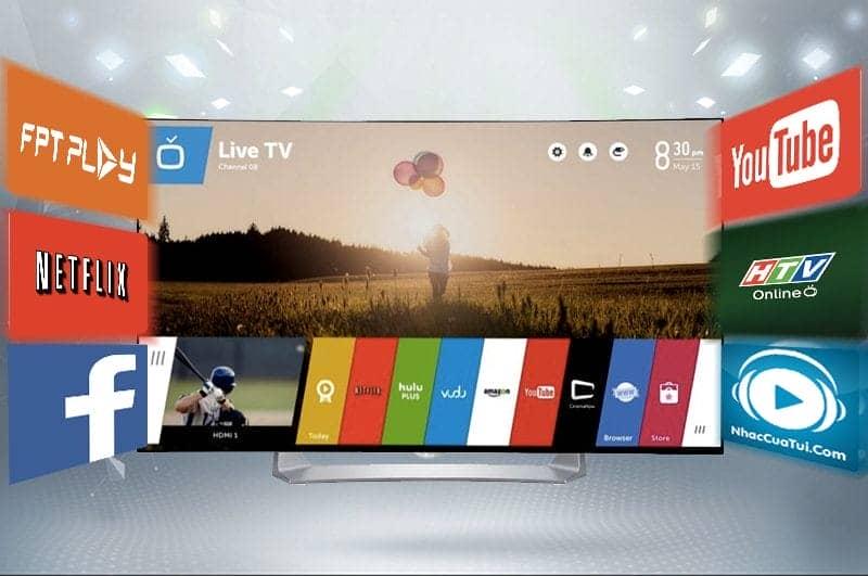 Smart TV Full HD OLED Cong LG 55EG910T Khả năng kết nối internet