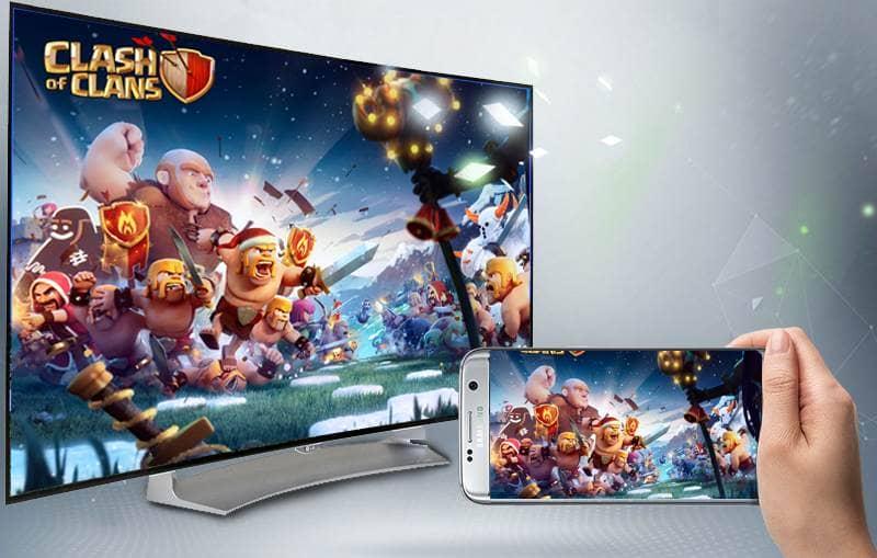 Smart TV Full HD OLED Cong LG 55EG910T trình chiếu điện thoại lên tivi