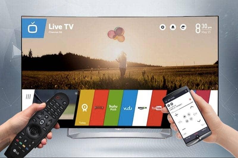 Smart TV Full HD OLED Cong LG 55EG910T Điều khiển Tivi bằng điện thoại