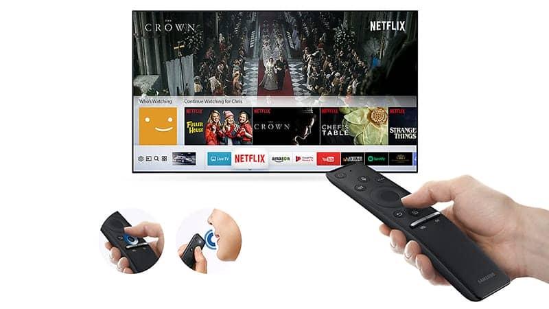 Smart Tivi 4K Samsung 55 inch UA55MU6400 remote thông minh