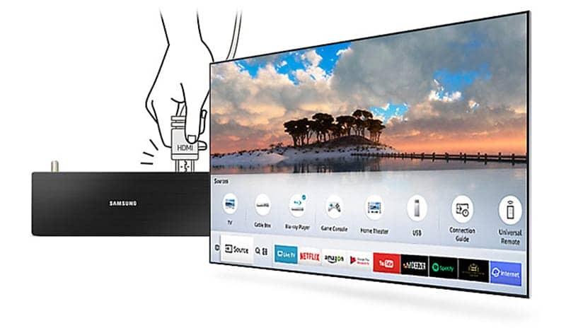 Smart Tivi 4K Samsung 55 inch UA55MU6400 tự động nhận diện thiết bị