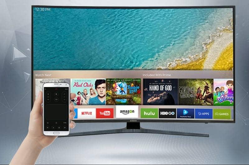 Smart Tivi Cong Samsung 4K 55 inch UA55KU6500 Điều khiển tivi bằng smart view