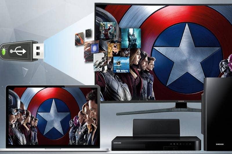 Smart Tivi Cong Samsung 4K 55 inch UA55KU6500 Đa dạng kết nối
