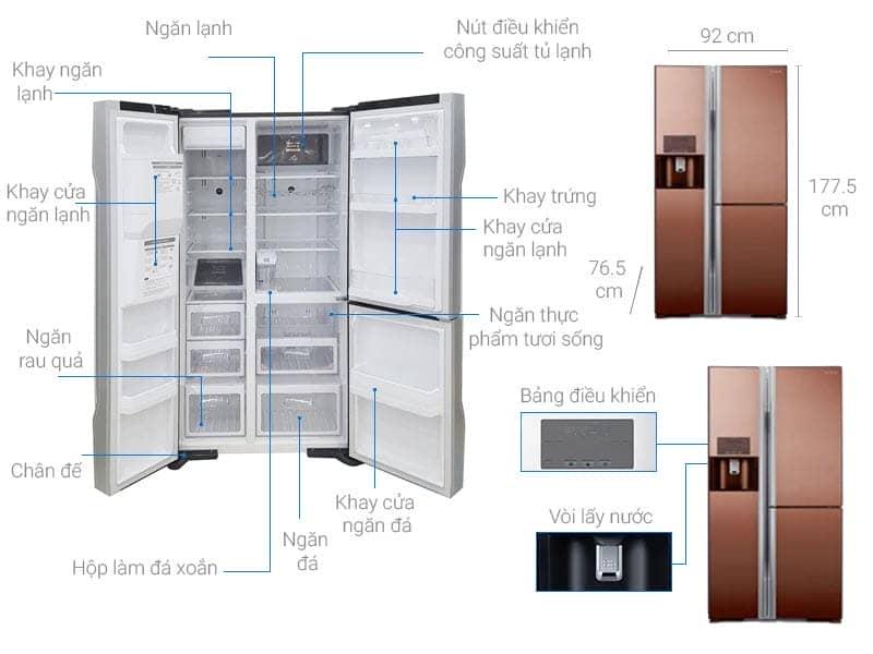 ảnh kỹ thuật tủ R-M700GPGV2X (MBW)
