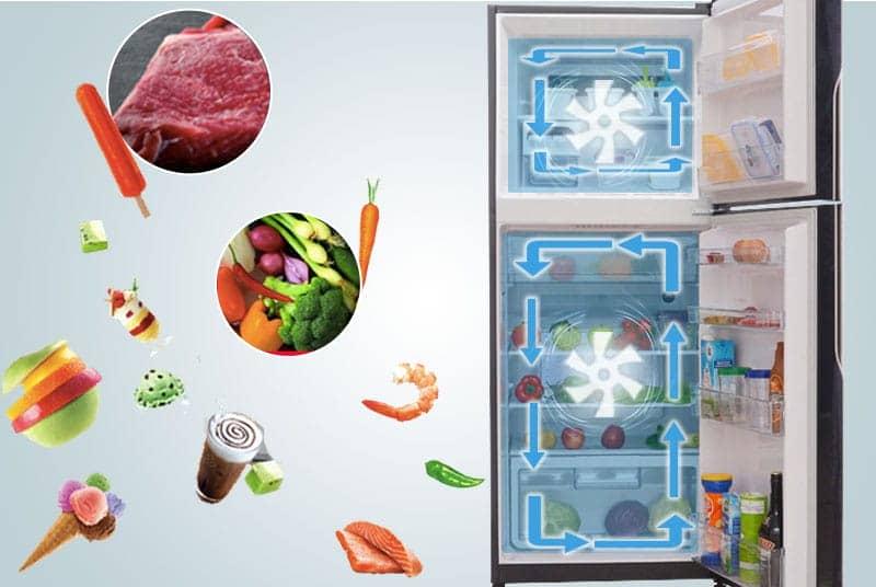 Hệ thống làm lạnh của Hitachi R-VG400PGV3 (GBK)