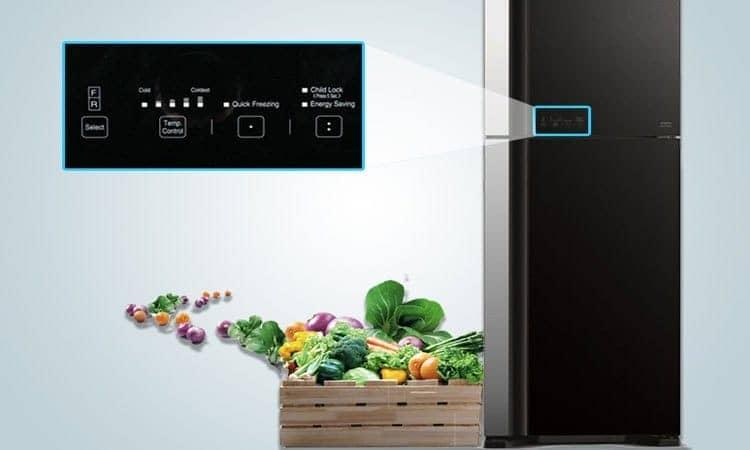 Tủ lạnh R-VG660PGV3 (GBK) hiện đại với bảng điều khiển cảm ứng