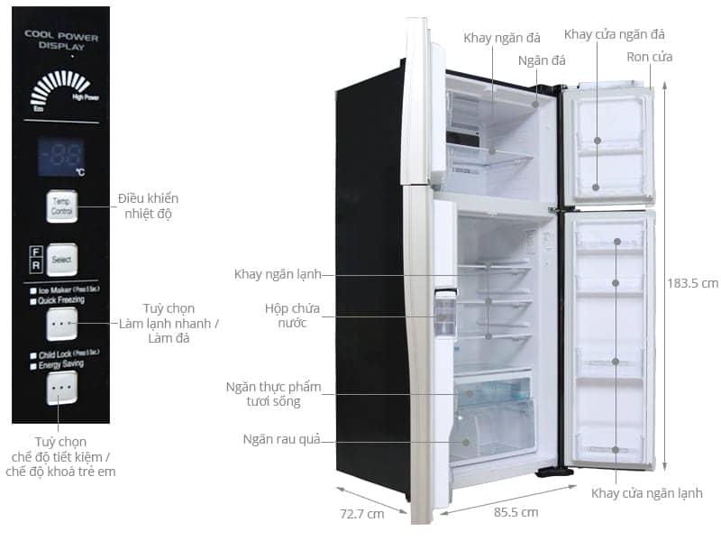 ảnh kỹ thuật tủ lạnh R-W660FPGV3X (GBK)