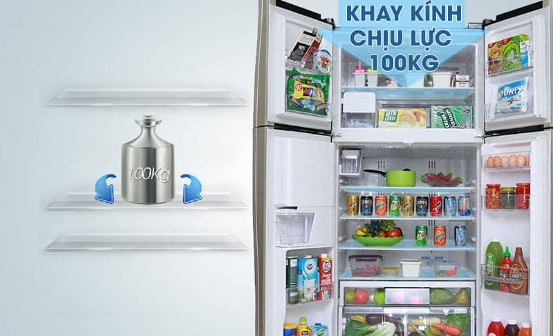 Khay kính trên tủ lạnh R-W660FPGV3X (GBK)