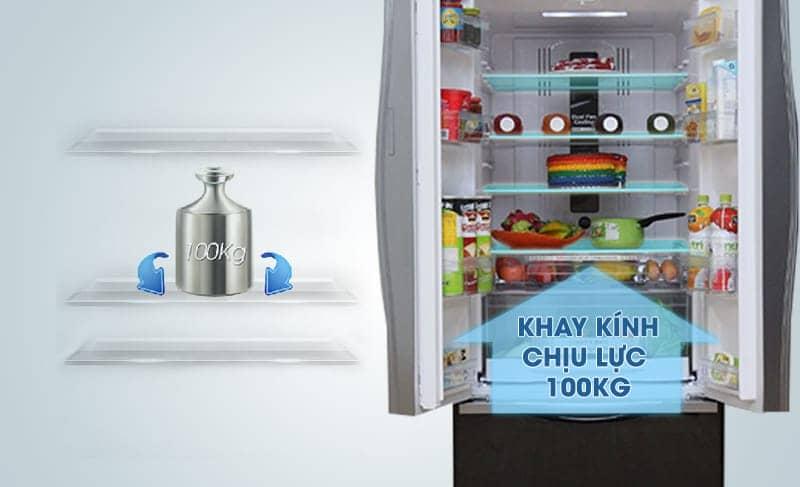 tủ lạnh R-WB545PGV2 (GBW) được trang bị khay xoay