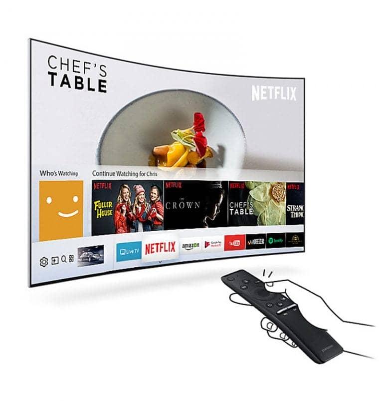 Smart Tivi cong 4K Samsung 65 inch UA65MU6500 Smart hub