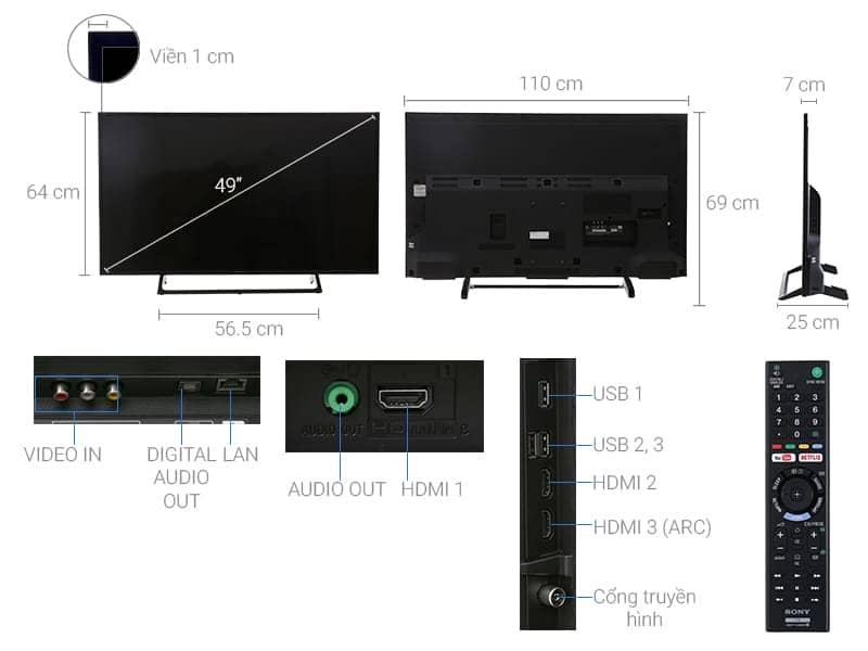 ảnh kỹ thuật KD-49X7000E