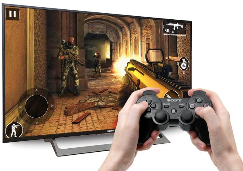 KD-55X8000E kết nói tay chơi game