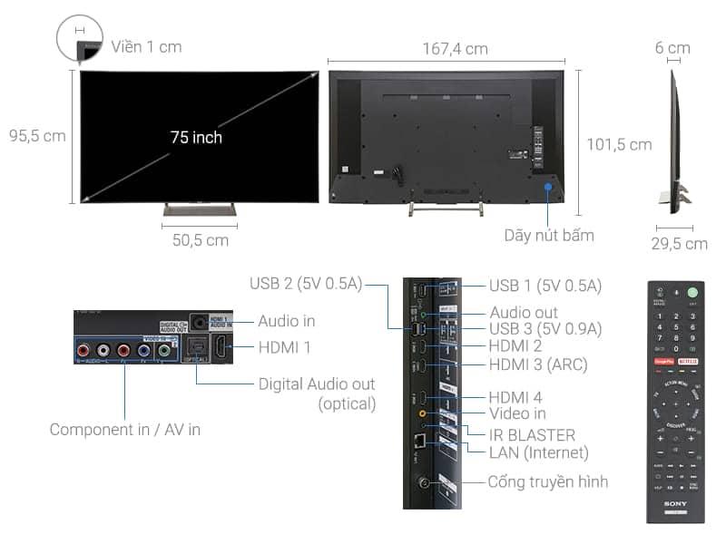 ảnh kỹ thuật KD-75X9000E