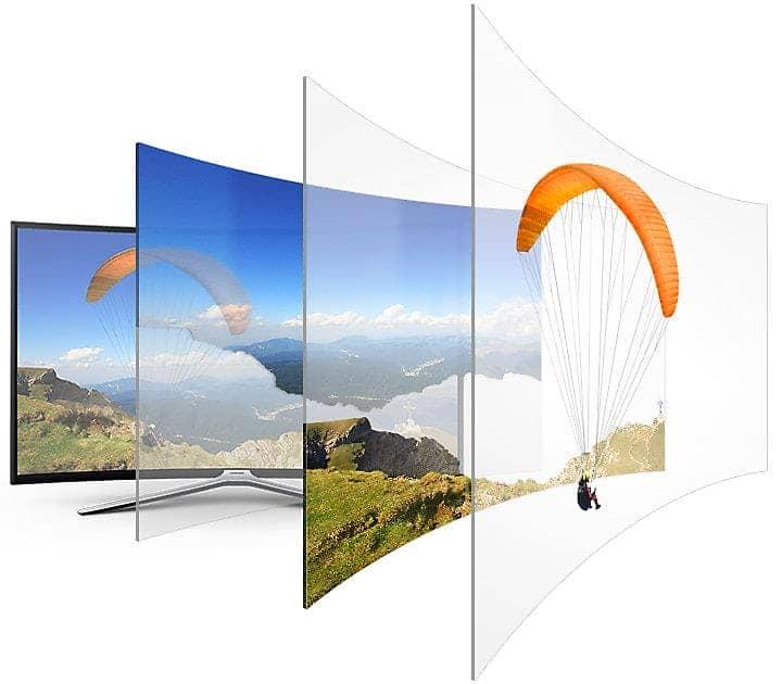 Smart Tivi Cong Samsung 49 Inch UA49M6303 tăng cường độ sâu tự động