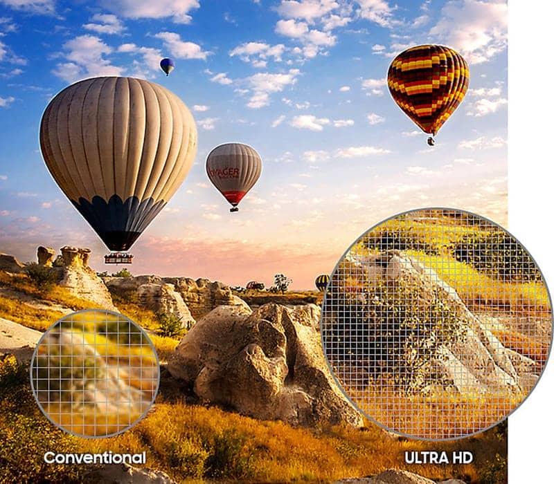 Smart Tivi Samsung 4K 43 inch UA43MU6400 Khả năng nâng cấp độ phân giải