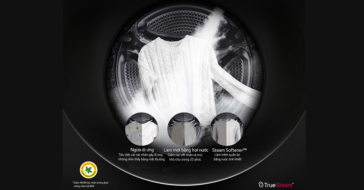 Máy Giặt LG TWINWash FG1405H3W diệt khuẩn vượt trội