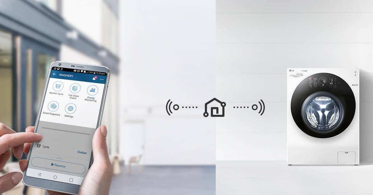 Máy Giặt LG TWINWash FG1405H3W kết nối thông minh