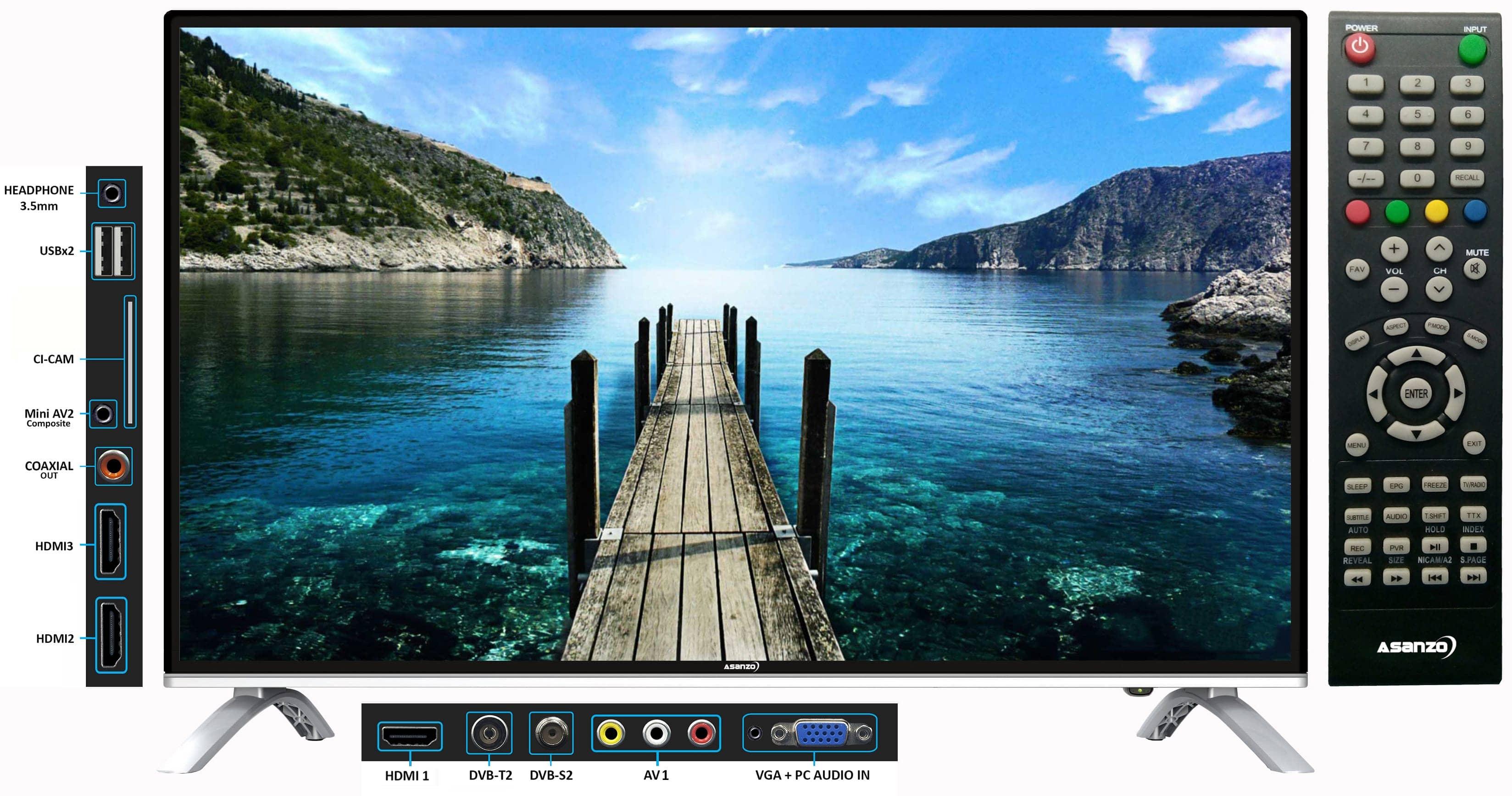Tivi Asanzo 32T660N tích hợp sẵn DVB-T2
