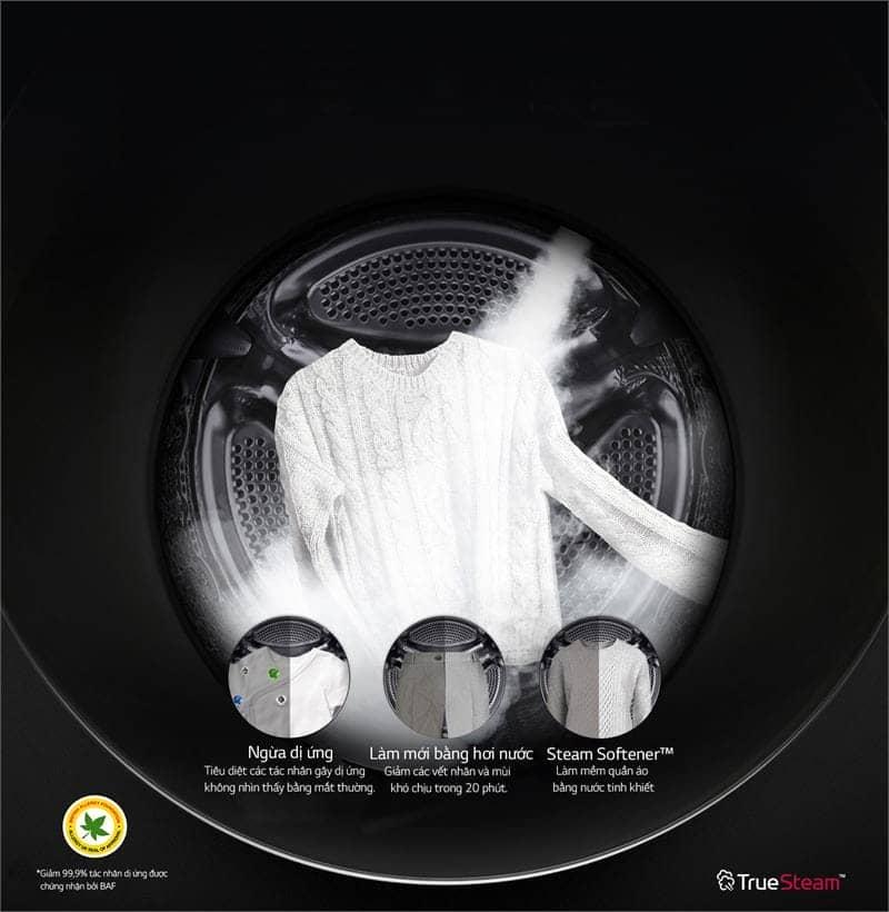 Máy giặt LG Inverter 10.5 kg FG1405S3W diệt khuẩn tối đa