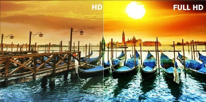 Hình ảnh KDL-43W660F sắc nét cùng độ phân giải Full HD sắc nét
