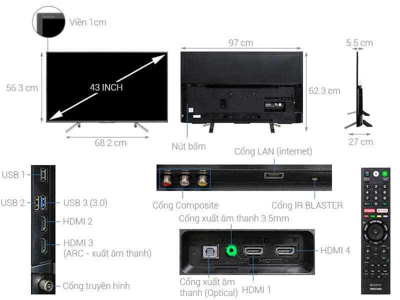 ảnh kỹ thuật tivi sony KDL-43W800F