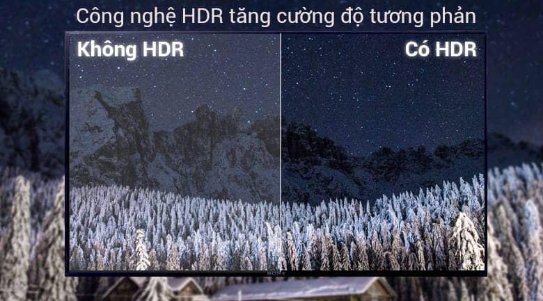 Sony KDL-50W660F với công nghệ HDR