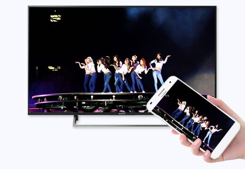 chiếu màn hình điện thoại lên tivi KD-49X8000E/S