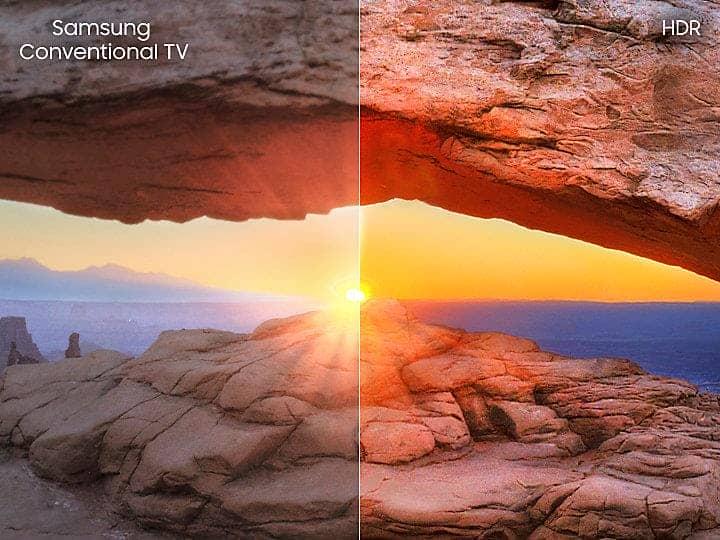 Smart Tivi 4K Samsung UA55NU7500 Công nghệ HDR