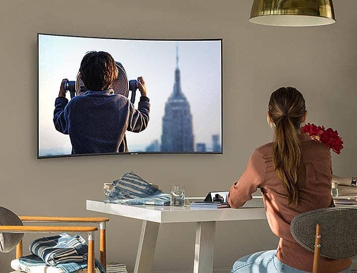 Smart Tivi Cong 4K Samsung 65 inch 65NU7500 Đồng bộ chia sẻ nội dung