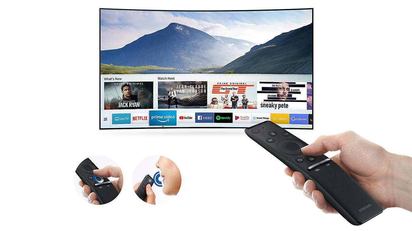 Smart Tivi Cong Samsung 4K 65 inch 65NU8500 One remote