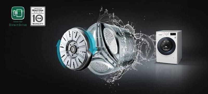 Máy giặt LG Inverter 7.5 kg FC1475N4W dẫn động trực tiếp, inverter