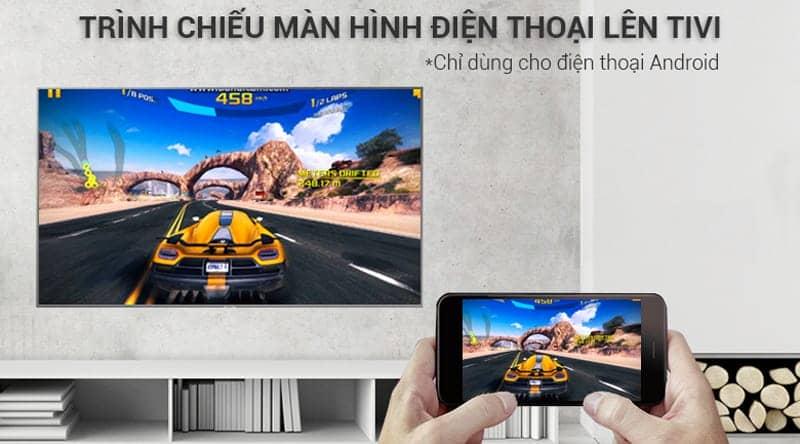 Smart Tivi Samsung 4K UA55NU7400 Trình chiếu màn hình điện thoại