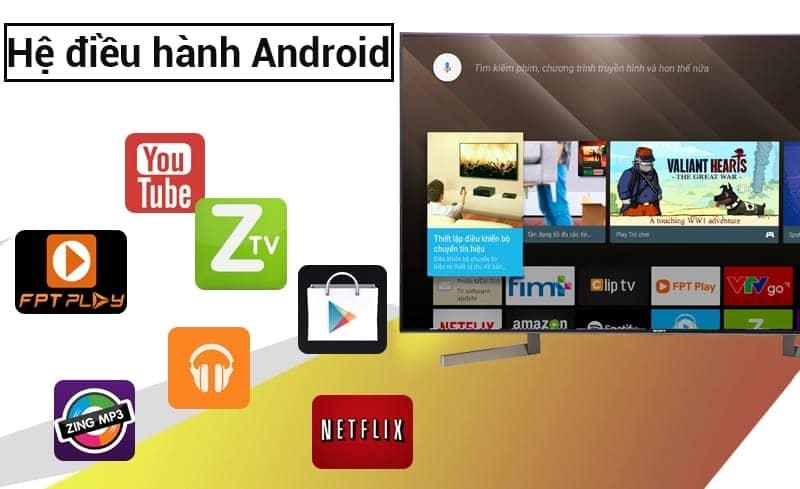 Android trên tivi KD-49X9000F