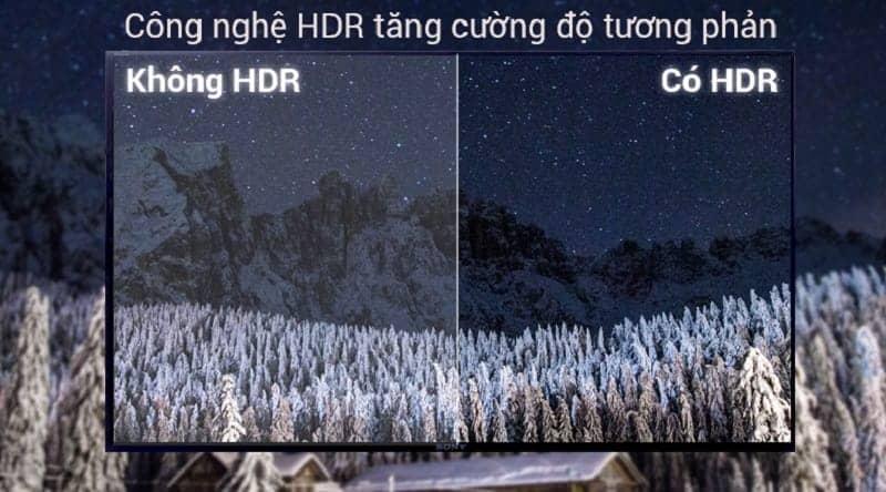 Công nghệ HDR trên Smart Tivi Sony 32 inch KDL-32W610F